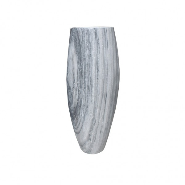 Vase aus Marmor weiß-grau