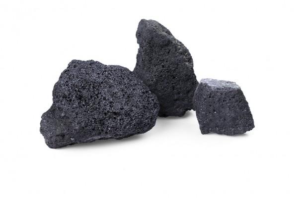 Lava schwarz Gabionensteine