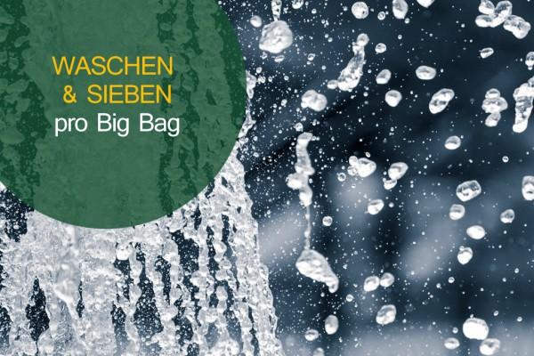 Material waschen und sieben je Big Bag