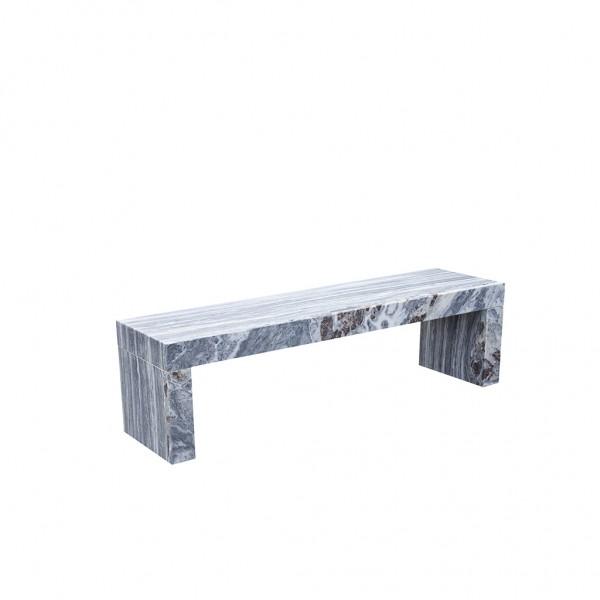 Sitzbank Marmor weiß / grau
