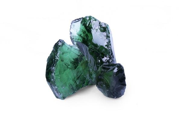 Glas Grün Gabionensteine