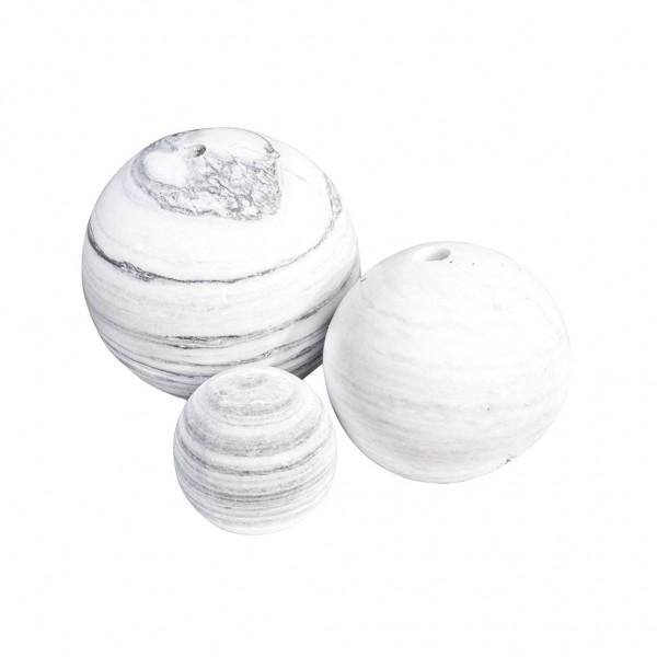 Ball´s white/grey 30 cm, ungebohrt