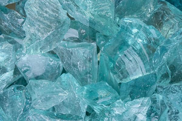 Glas Türkis Steinschlag / Schotter