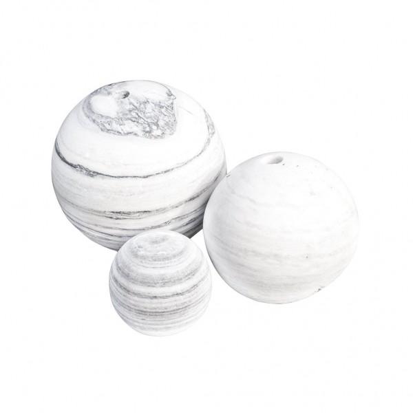 Ball´s white/grey 20 cm, ungebohrt