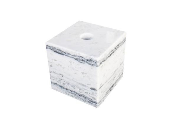 Wasserspiel Cubes 30cm, poliert, gebohrt, weiß-grau
