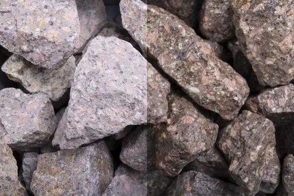 Roter Porphyr Steinschlag / Schotter